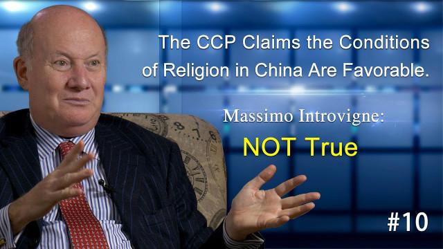 De CCP beweert dat de religie in China gunstig zijn. Massimo Introvigne: NIET waar