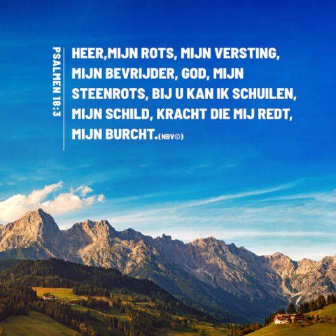Bijbeltekst plaatjes:Psalmen 18:3