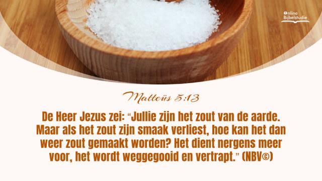 Matteüs 5:13-Dagelijks evangelie