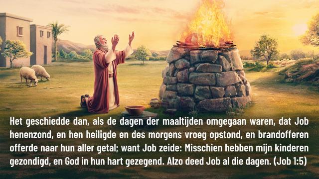 Dagelijks evangelie – Job 1:5