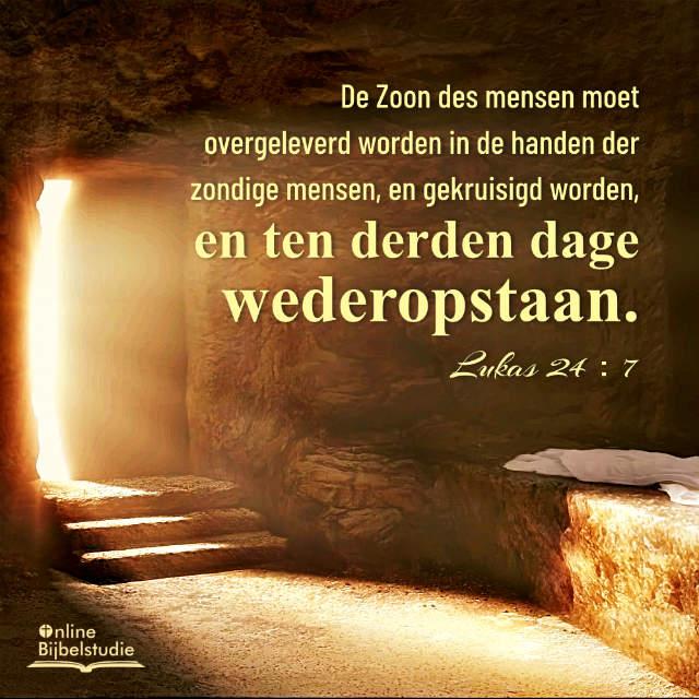 Bijbeltekst plaatjes – de opstanding van de Heer Jezus