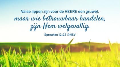 Bijbeltekst van de dag – Spreuken 12:22