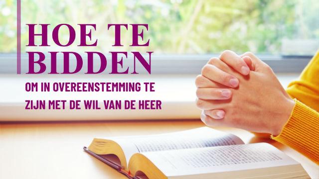 Hoe te bidden om in overeenstemming te zijn met de wil van de Heer