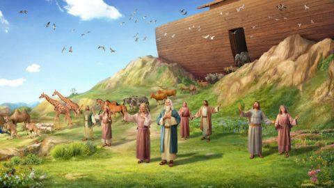 Gods zegen voor Noach na de vloed