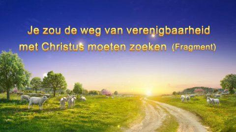 Uitspraken van Christus 'Je zou de weg van verenigbaarheid met Christus moeten zoeken' (Fragment)