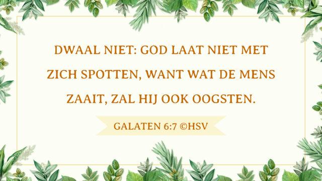 Bijbeltekst van de dag – Galaten 6:7