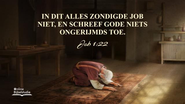 Bijbeltekst van de dag – Job 1:22