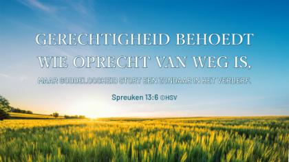 Spreuken 13 6
