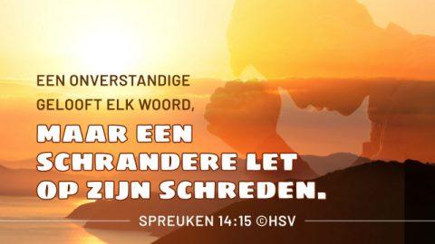 Bijbeltekst van de dag – Spreuken 14:15
