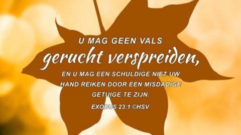 Bijbeltekst van de dag – Exodus 23:1