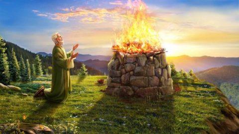 Job zegent de naam van God en denkt niet aan zegeningen of rampspoed