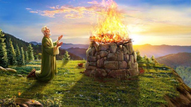 Bijbelse figuur Job - Job zegent de naam van God en denkt niet aan zegeningen of rampspoed