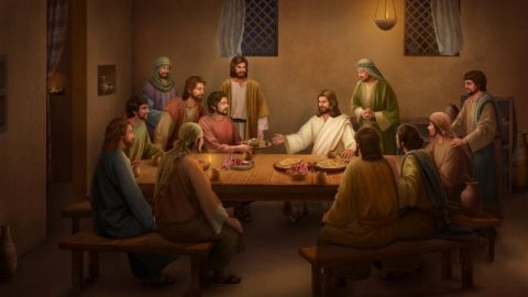 Jezus eet brood en legt de Schrift uit na Zijn opstanding