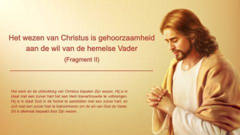 Gods woord 'Het wezen van Christus is gehoorzaamheid aan de wil van de hemelse Vader' (Fragment II)