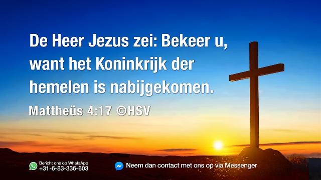 Kom tot inkeer, want het _koninkrijk van de hemel_ is nabij!
